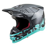 Alpinestars Supertech M8 Radium MIPS Helmet Matte Black/Grey/Teal
