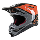 Alpinestars Supertech M8 Triple MIPS Helmet Orange/Grey/Black