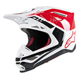 Alpinestars Supertech M8 Triple MIPS Helmet Red/White/Gloss