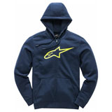 Alpinestars Ageless II Zip-Up Hooded Sweatshirt Navy/Hi-Vis