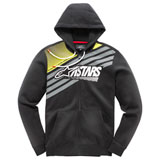 Alpinestars Stripey Zip-Up Hooded Sweatshirt Black