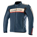 Alpinestars Dyno V2 Leather Jacket Navy/Red