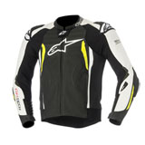 Alpinestars GP Tech V2 Tech-Air Race Leather Jacket Black/White/Yellow