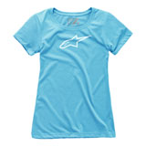 Alpinestars Women's Ageless T-Shirt Light Blue