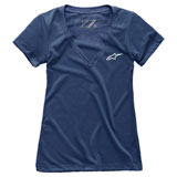 Alpinestars Women's Ageless V-Neck T-Shirt Navy