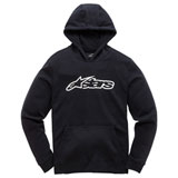 Alpinestars Youth Blaze Hooded Sweatshirt Black/White