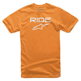 Alpinestars Youth Ride 2.0 T-Shirt Orange/White