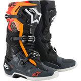 Alpinestars Tech 10 Boots Black/Grey/Orange/Fluo Red