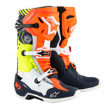 Alpinestars Tech 10 LE Nations 19 Boots Blue/Orange/Yellow