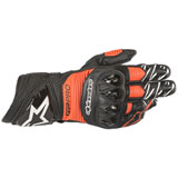 Alpinestars GP Pro R3 Leather Gloves Black/Fluo Red