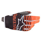 Alpinestars Youth Radar Gloves Anthracite/Orange Fluo