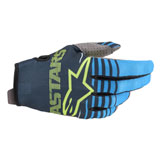 Alpinestars Youth Radar Gloves Navy/Aqua