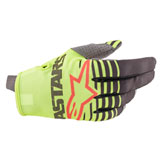 Alpinestars Youth Radar Gloves Yellow Fluo/Anthracite