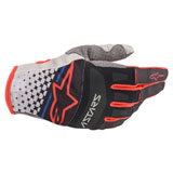 Alpinestars Techstar Gloves Light Grey/Black/Bright Red