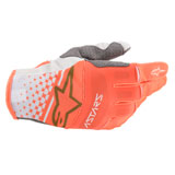 Alpinestars Techstar Gloves White/Orange Fluo/Gold