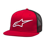 Alpinestars Corp Snapback Trucker Hat Red