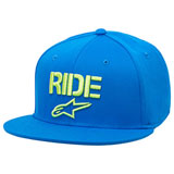 Alpinestars Ride Flat Flex Fit Hat Turquoise