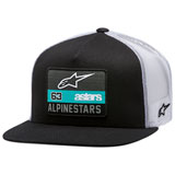 Alpinestars Sponsored Snapback Trucker Hat Black/White