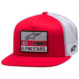 Alpinestars Sponsored Snapback Trucker Hat Red/White