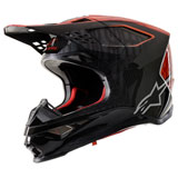 Alpinestars Supertech M10 Alloy MIPS Helmet Black/Orange/Red