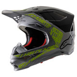 Alpinestars Supertech M8 Triple MIPS Helmet Silver/Black/Yellow