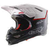 Alpinestars Supertech M8 MIPS LE Deus Ex Machina Helmet Black/White/Deep Red