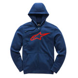 Alpinestars Ageless II Zip-Up Hooded Sweatshirt Navy/Red