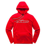 Alpinestars Blaze Hooded Sweatshirt Red/Grey