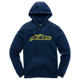 Alpinestars Blaze Hooded Sweatshirt Navy/Yellow