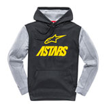 Alpinestars Converge Hooded Sweatshirt Black/Yellow