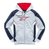 Alpinestars Strike Zip-Up Hooded Sweatshirt Grey/Navy