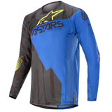 Alpinestars Techstar Factory Jersey 20 Black/Dark Blue/Yellow Fluo