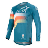 Alpinestars Techstar Venom Jersey Petrol/White/Orange Fluo