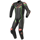 Alpinestars GP Pro V2 Tech-Air One-Piece Leather Suit Black/Bright Green