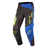 Alpinestars Techstar Factory Pants 20 Black/Dark Blue/Yellow Fluo