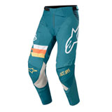 Alpinestars Techstar Venom Pants Petrol/White/Orange Fluo