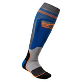 Alpinestars MX Plus-1 Socks Blue/Orange
