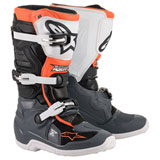 Alpinestars Youth Tech 7S Boots Black/Grey/White/Fluo Orange