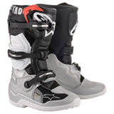 Alpinestars Youth Tech 7S Boots Black/Silver/White/Gold