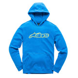 Alpinestars Youth Blaze Hooded Sweatshirt Blue/Hi-Viz Yellow