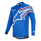 Alpinestars Youth Racer Braap Jersey Blue/Off White