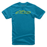 Alpinestars Youth Blaze T-Shirt Royal/Hi-Viz Yellow