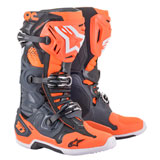 Alpinestars Tech 10 Boots Cool Gray/Orange Fluorescent/Blue/White