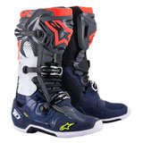 Alpinestars Tech 10 Boots Dark Grey/Dark Blue/Red Flou