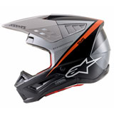 Alpinestars Supertech M5 Rayon Helmet Black/White/Orange