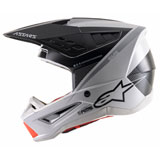 Alpinestars Supertech M5 Rayon Helmet Light Grey/Black/Silver