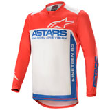 Alpinestars Racer Supermatic Jersey Bright Red/Blue/Off White
