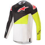 Alpinestars Techstar Factory Jersey Black/Yellow Fluo/Off White