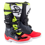 Alpinestars Youth Tech 7S Boots Dark Grey/Red Fluo/Yellow