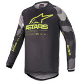 Alpinestars Youth Racer Tactical Jersey Grey Camo/Yellow Fluo